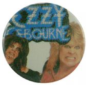 Ozzy Osbourne - 'Blood' Button Badge